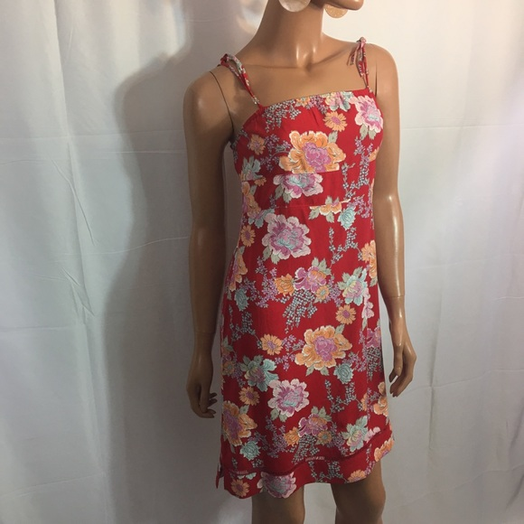Old Navy Dresses & Skirts - OLD NAVY  floral printed red dress size 14